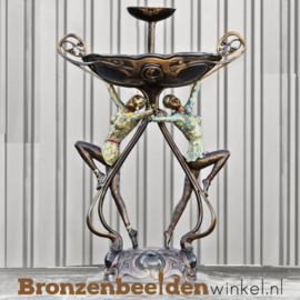 Bronzen fontein met klassieke danseressen BBW8004
