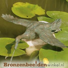 Spuitfiguur eend met gespreide vleugels BBWR88343