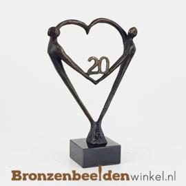 """TOP cadeau 20 jaar getrouwd """"Het Hart"""" met 20 BBW003br67j"""