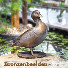 Beeld mandarijneend van brons BBW37278