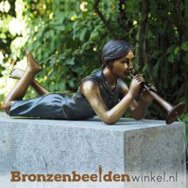 Tuinbeeld meisje met fluit BBW1262