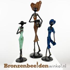 """Afrikaans kunst """"Set 3 st. (1xL-2xM)""""  BBW009br50"""