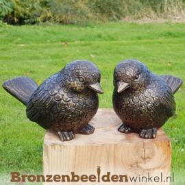 NR 6 | Cadeau man 90 jaar ''Twee dikke bronzen vogels'' BBW0403br