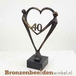 """TOP cadeau 40 jaar getrouwd """"Het Hart"""" met 40 BBW003br67"""