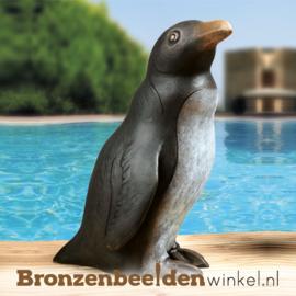 Bronzen pinguïn beeld BBW37177