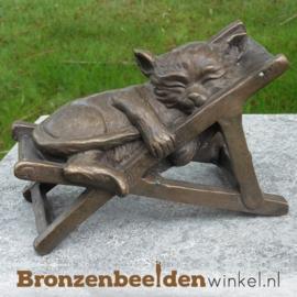 Bronzen slapende kat BBW1716br