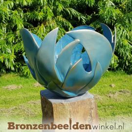 "Abstract tuinbeeld ""Bloem des Levens"" - Blauw"