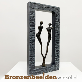 "Wanddecoratie brons ""Together"" BBW005br31"