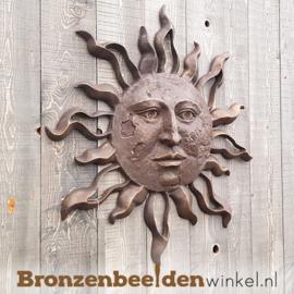 Bronzen zon voor aan de muur BBW0447BR