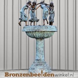 Bronzen fontein met dansende vrouwen BBW8006