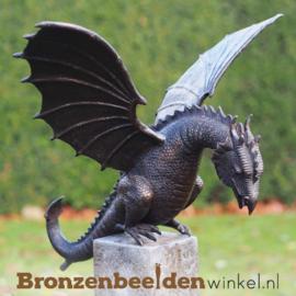 Spuitfiguur draken beeld brons BBW6791