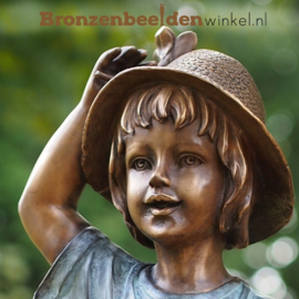 """Kinderbeeld """"Meisje met Gieter"""" van brons BBW1538br"""