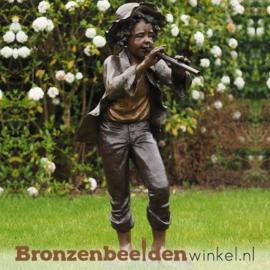 Jongen met fluit als tuinbeeld BBW52600