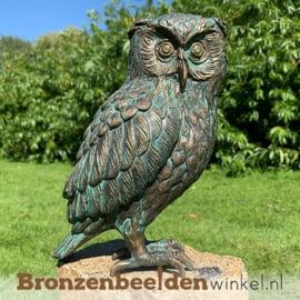 Beeld uil brons - steenuil BBWR89002