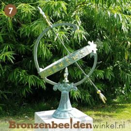 NR 7 | Cadeau man 80 jaar ''Bronzen zonnewijzer'' BBW0221br