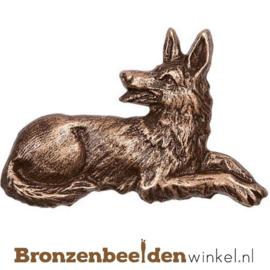 Hondenbeeldje herdershond brons BBWP34911