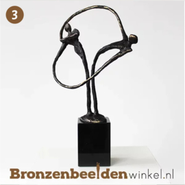 "NR 3 | Origineel cadeau bruiloft vrienden ""Verbonden"" BBW004br37"
