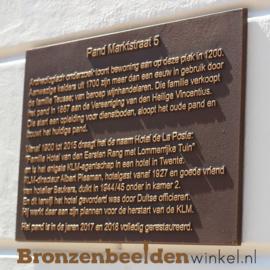 Bronzen plaquette 40x30 cm