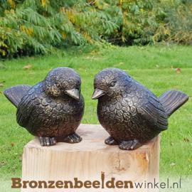 Twee dikke bronzen vogels BBW0403br
