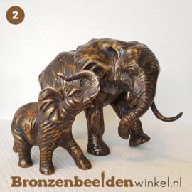 NR 2 | 80 jaar verjaardagscadeau ''Moeder olifant met baby olifant'' BBWFHOFS