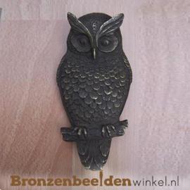 Bronzen uil muurdecoratie BBW0152