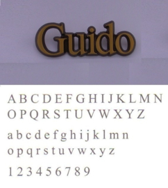 Losse letters Guido