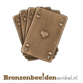 Beeld speelkaarten van brons BBWP3417