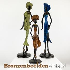 """Afrikaans kunst """"Set 3 st. (2xM-1xS)""""  BBW009br59"""