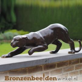 Bronzen jaguar beeld BBW2063br