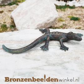 Bronzen hagedis beeld BBWR88011