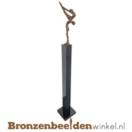 "Groot bruiloft cadeau ""Balans"" op sokkel BBW007br23"