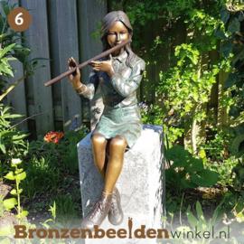 NR 6 | Cadeau man 75 jaar ''Meisje op fluit'' BBW1259br