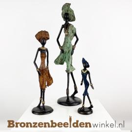 """Afrikaans kunst """"Set 3 st. (1xL-1xM-1xS)""""  BBW009br47"""