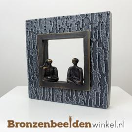 """Wanddecoratie brons """"Het gesprek"""" BBW005br26"""