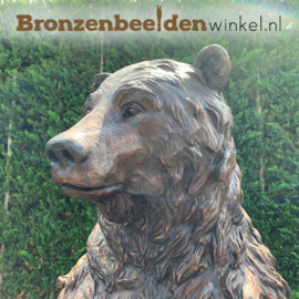 Grote Grizzly beer in brons BBW59266