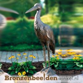 Bronzen ooievaar beeld BBW87610