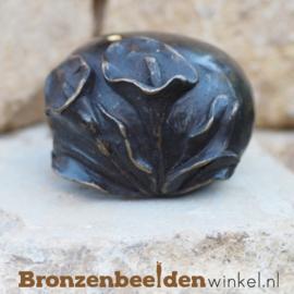 Bronzen asbeeldje met bloemen BBW0370BR