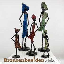 """Afrikaans kunst """"Set 5 st. (2xL-1xM-2xS)""""  BBW009br46"""