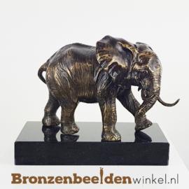 Beeld olifant brons op sokkel BBWFHOF