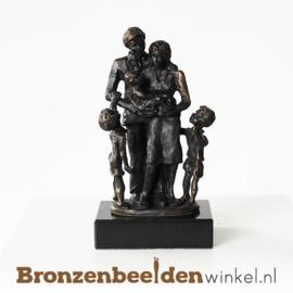 """Geboortegeschenk """"Gezin met zoon, dochter en baby"""" BBW003br16"""
