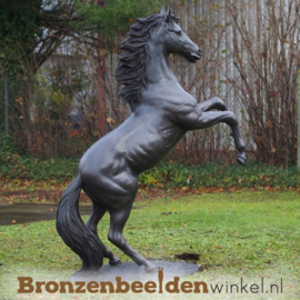 Nr 9 | Groot steigerend paarden beeld BBW910br