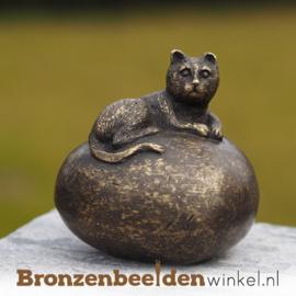 Bronzen asbeeldje met kat BBW0433BR