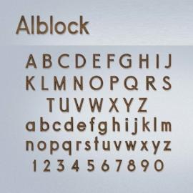 Bronzen letters Alblock
