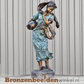 Bronzen fontein Vrouw met Kruik BBW8014