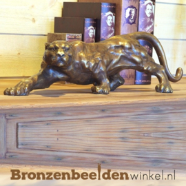 Bronzen panter beeld BBW0215