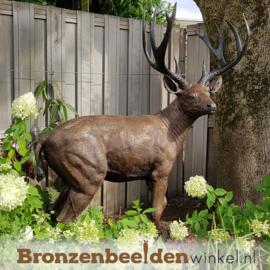 Bronzen hert beeld groot BBW837