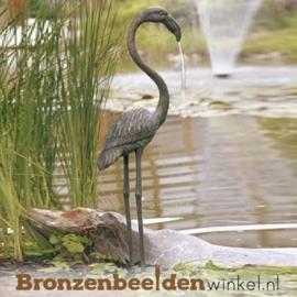 Spuitfiguur flamingo vogel in brons BBWR88346