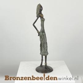 """Afrikaans beeld """"Ontspannen"""" 35 cm BBW009br26"""