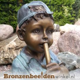 """Tuinbeeld """"Jongetje met Fluit"""" BBW1391br"""