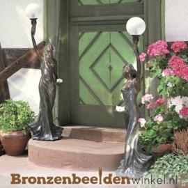 Vrouwen tuinbeelden met verlichting BBWR88310-11